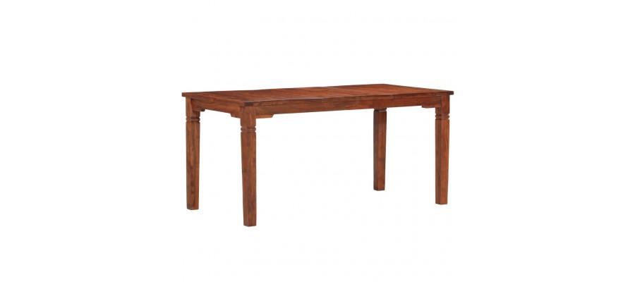 Spisebord 160 x 80 x 76 cm massivt akacietræ
