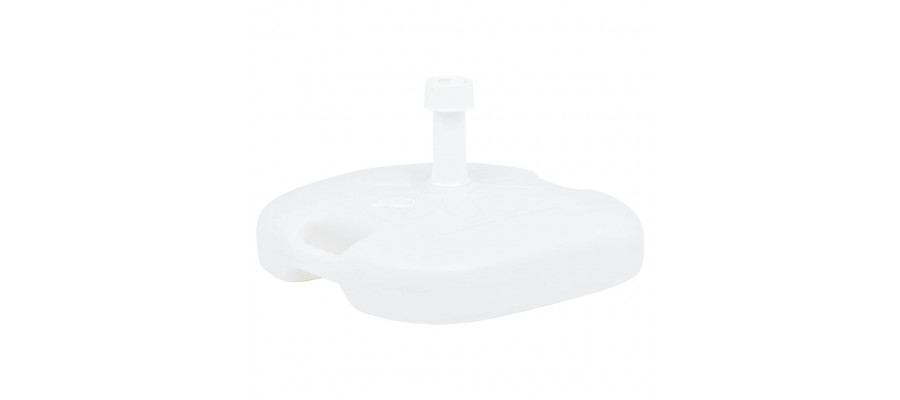 Parasolfod 16 l sand- eller vandfyld plastik hvid
