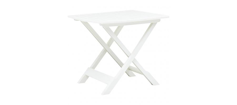 Foldbart havebord 79 x 72 x 70 cm plastik hvid