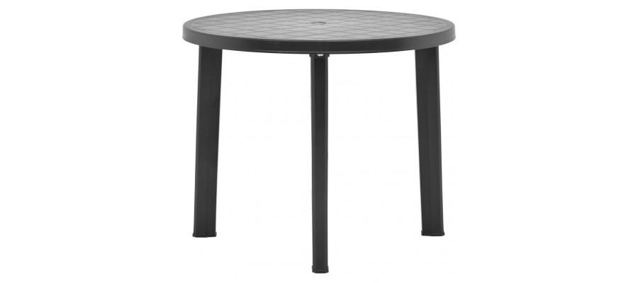 Havebord 89 cm plastik antracitgrå