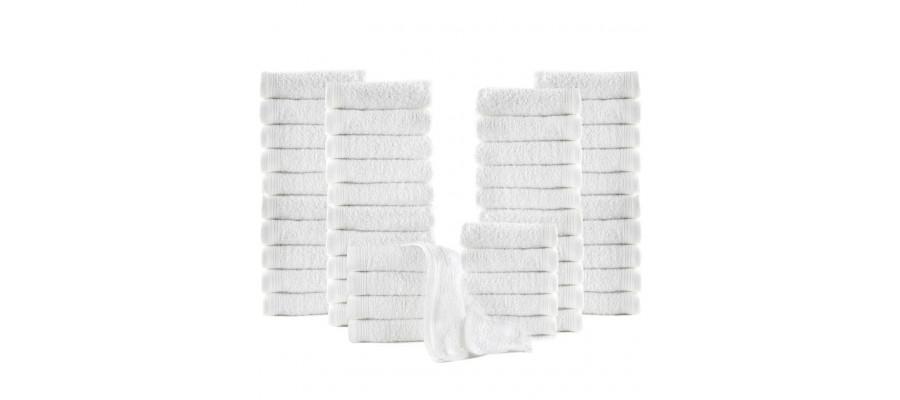 Gæstehåndklæder 50 stk. bomuld 350 gsm 30x30 cm hvid
