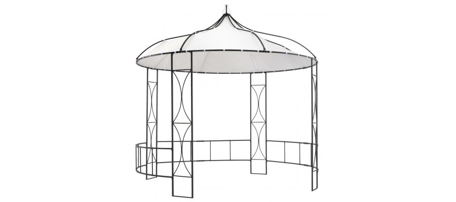Pavillon 300x290 cm rund hvid