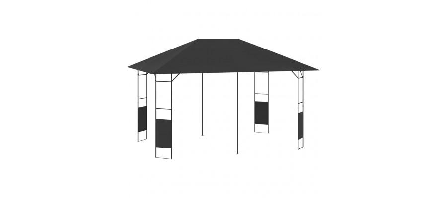 Havepavillon 4x3 m 160 g/m² antracitgrå