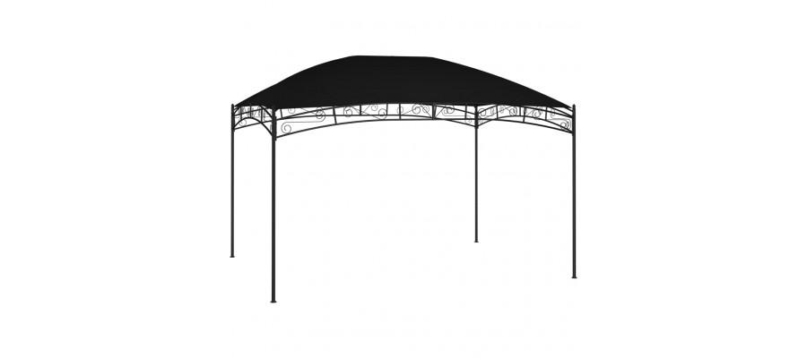 Havepavillon 4x3 m 180 g/m² antracitgrå