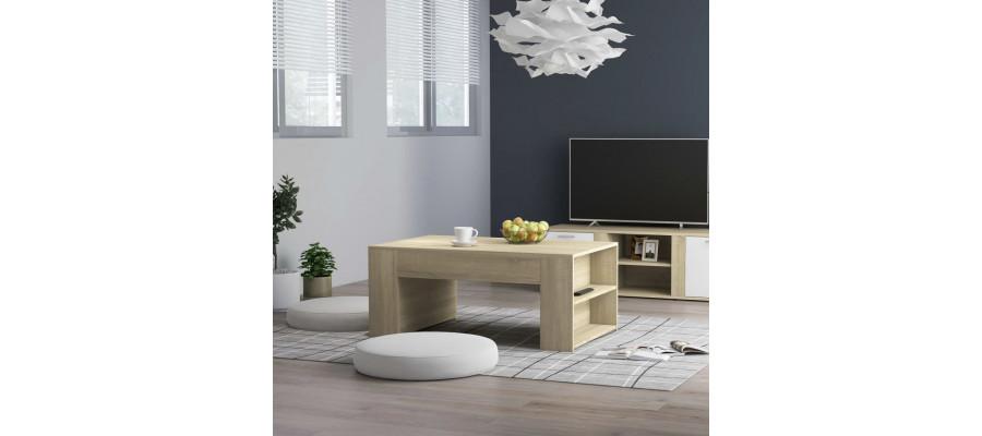 Sofabord 100x60x42 cm spånplade sonoma-eg