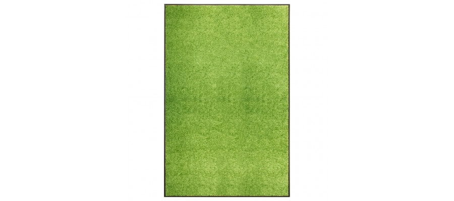 Vaskbar dørmåtte 120x180 cm grøn