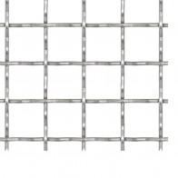 Rillet trådnetspanel rustfrit stål 50 x 50 cm 31 x 31 x 3 mm