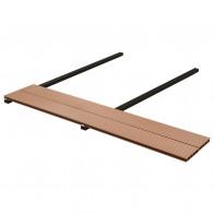 WPC-terrassebrædder med tilbehør 15 m² 4 m brun