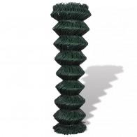 Fletvævshegn galvaniseret stål 1,5 x 15 m grøn