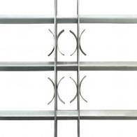 Justerbart sikkerhedsgitter til vinduer med 3 tværstænger 1000-1500 mm