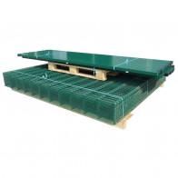 2D paneler og pæle til havehegn, 2.008x1.230 mm, 12 m, grønne