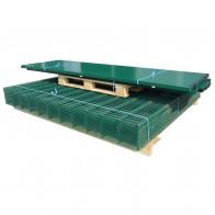2D paneler og pæle til havehegn, 2.008x1.230 mm, 36 m, grønne