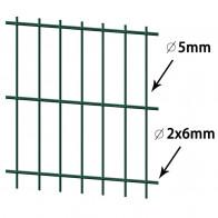 Havehegns-sektioner 2008x1630 mm 46 m Grøn