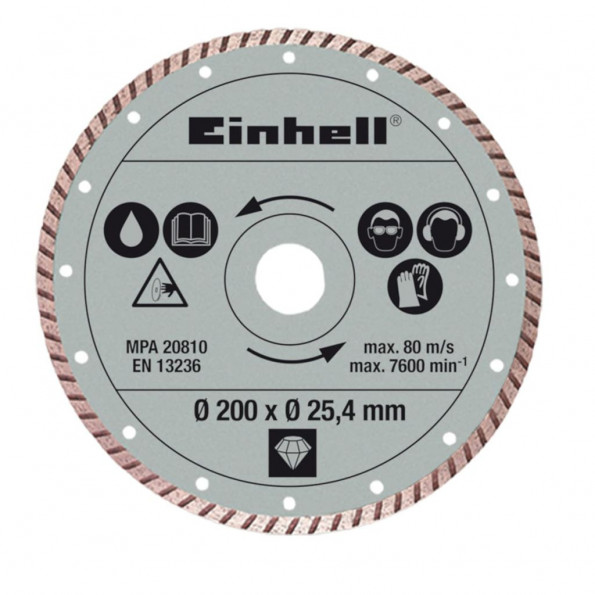 Einhell Turbo Skæreskive 200 x 25,4 mm for RT-TC 520 U and TE-TC 620 U