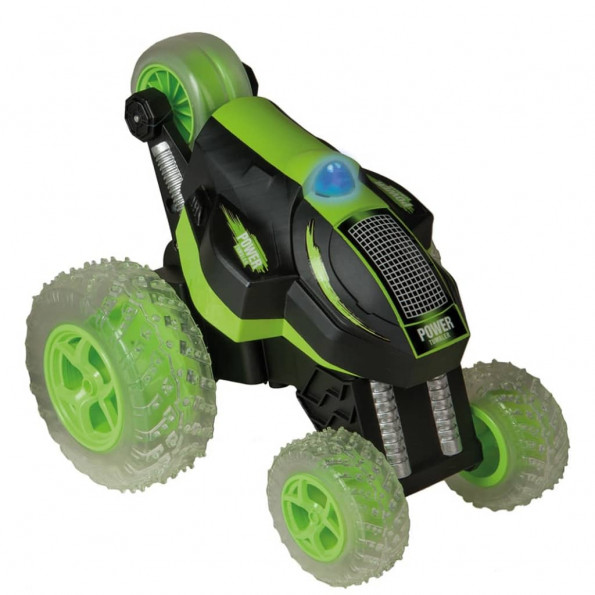 Happy People fjernstyret stuntbil Power Tumbler grøn og sort