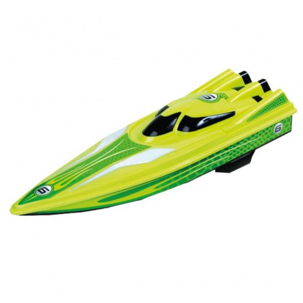 Happy People fjernstyret speedbåd 40 cm grøn