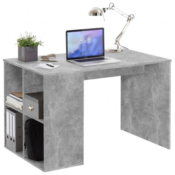FMD skrivebord med sidehylder 117 x 73 x 75 cm betongrå