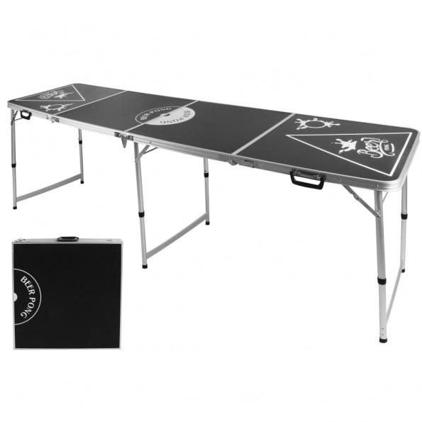 HI beer pong-bord højdejusterbart sort