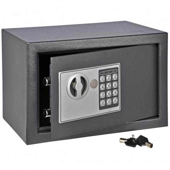 HI sikkerhedsskab med elektrisk lås 31 x 20 x 20 cm mørkegrå