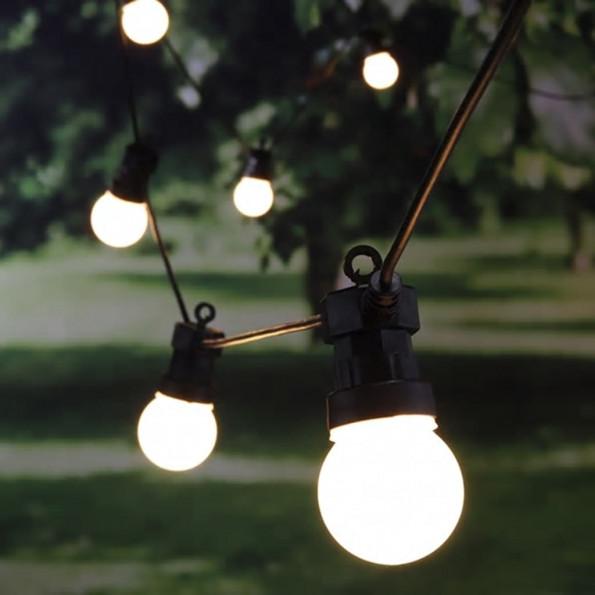 HI LED-lyskæde med 20 pærer 1250 cm
