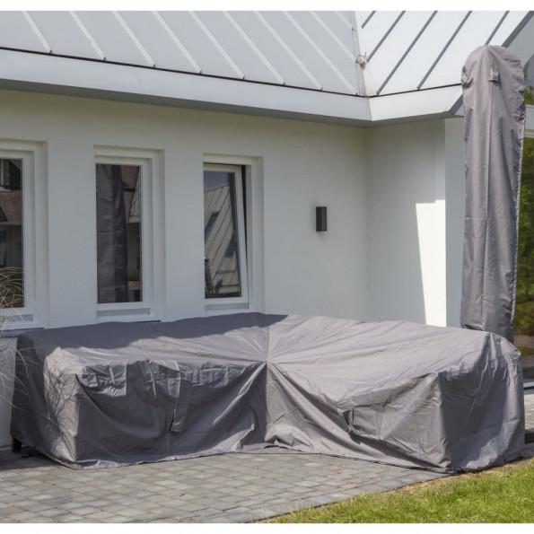 Madison udendørs loungesætovertræk 320 x 255 x 70 cm grå