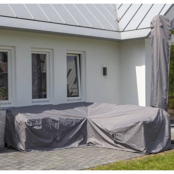 Madison udendørs loungesætovertræk 270 x 270 x 70 cm grå