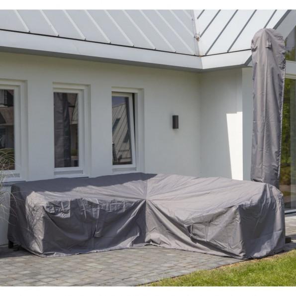 Madison udendørs loungesætovertræk 235 x 235 x 70 cm grå