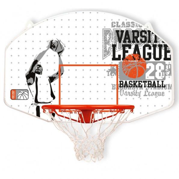 New Port basketballplade med ring i fiberglas 16NY-WGO-Uni