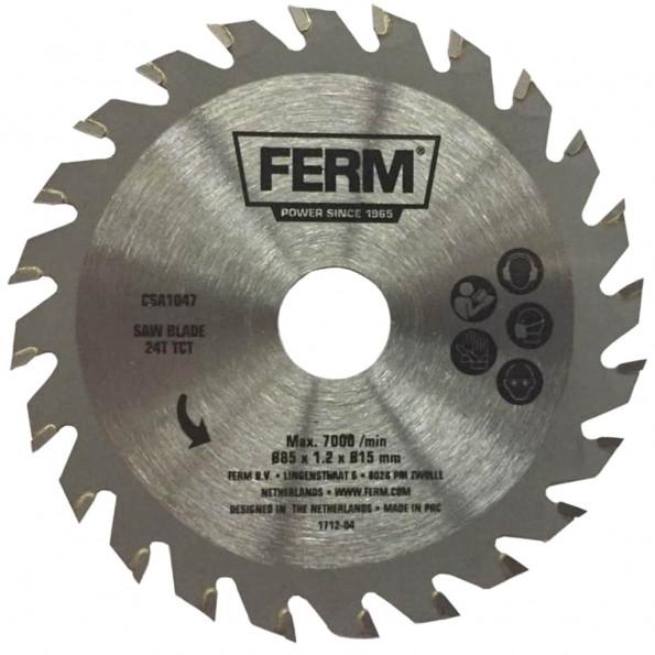 FERM præcisions-savklinge 24T TCT 85 mm CSA1047