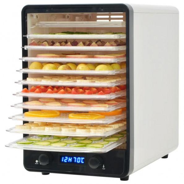 Fødevaredehydrator med 10 bakker 550 W hvid