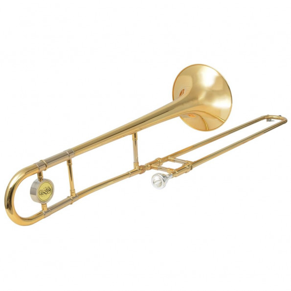 Trombone gul messing med guldlakering Bb