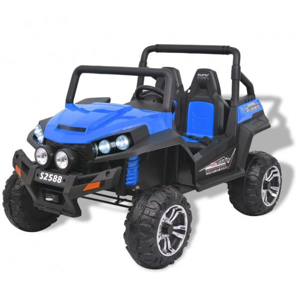 Elektrisk kørbar 2-personers bil XXL blå og sort