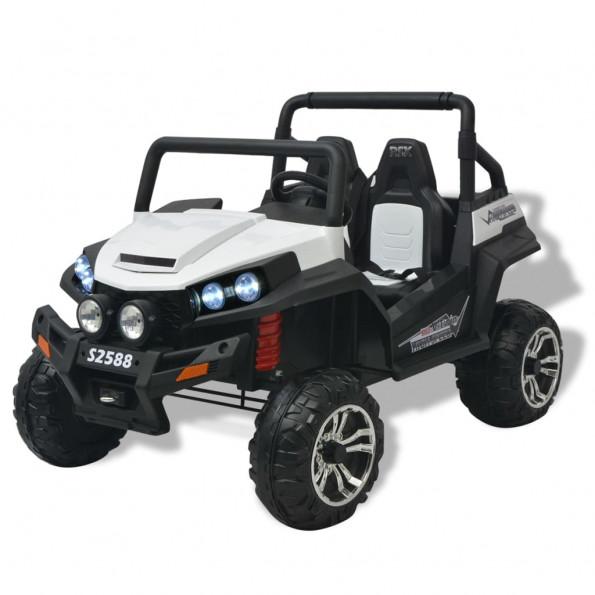 Elektrisk kørbar 2-personers bil XXL hvid og sort