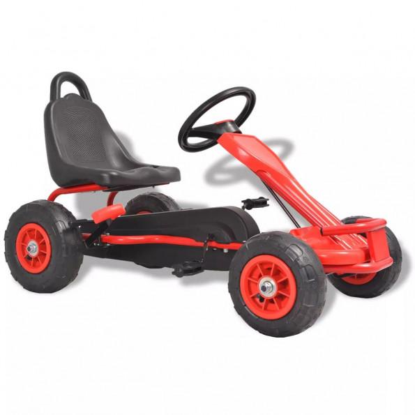 Pedal-gokart med luftdæk rød