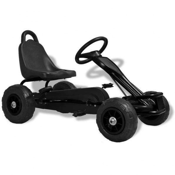 Pedal-gokart med luftdæk sort