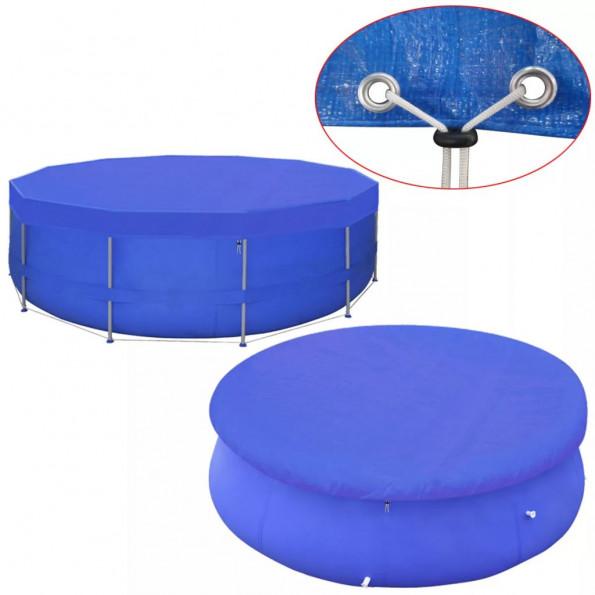 Poolovertræk PE rundt 460 cm 90 g/m²