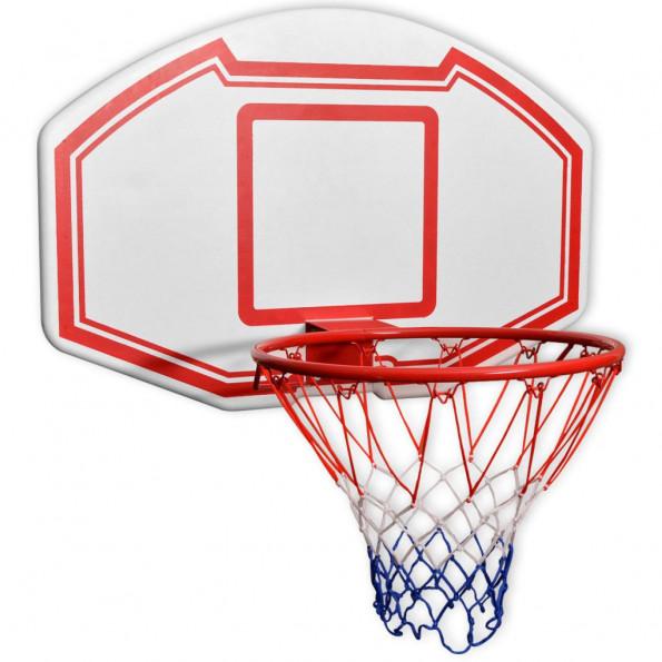 Vægmonteret basketballkurv med plade sæt med 3 dele 90x60 cm