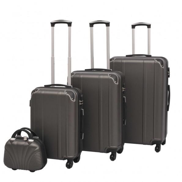 Hardcase trolleysæt fire dele antracitgrå