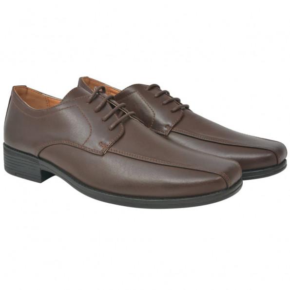 Businesssnøresko til herrer brun størrelse 41 PU-læder