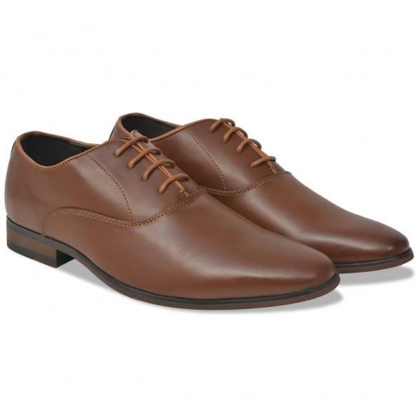 Business herre-snøresko brun størrelse 43 PU-læder