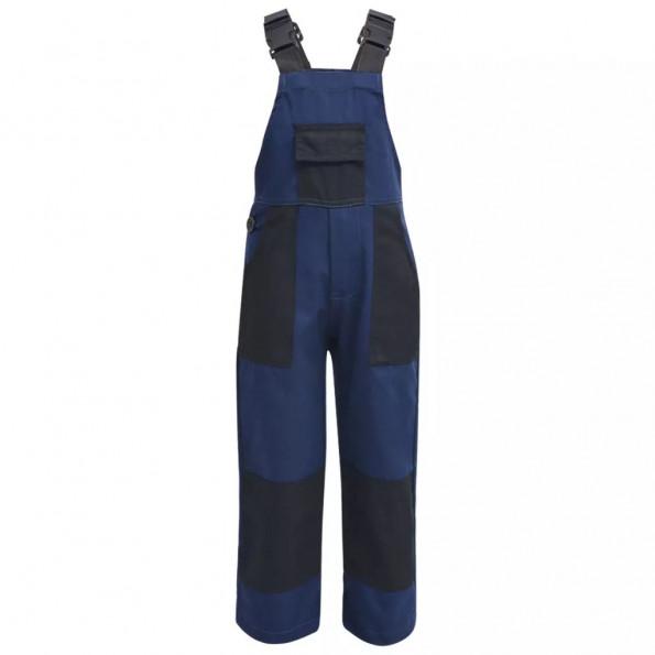Bib overall til børn størrelse 110/116 blå