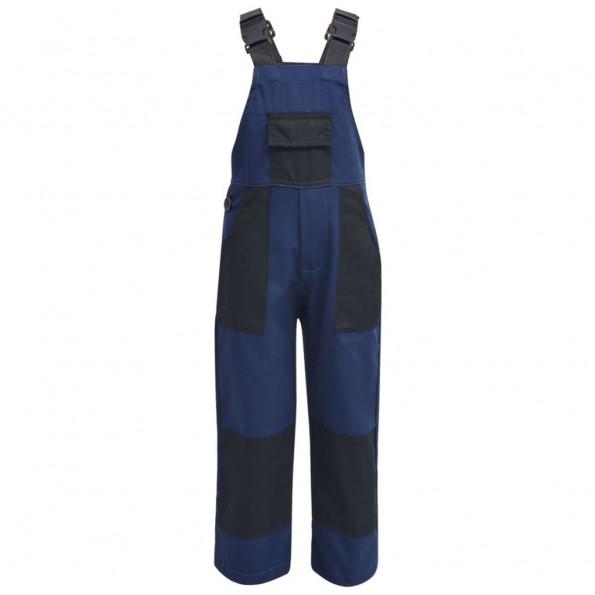 Bib overall til børn størrelse 122/128 blå