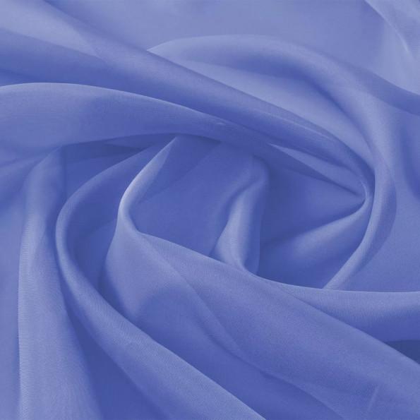 Voile-stof 1,45x20 m kongeblå
