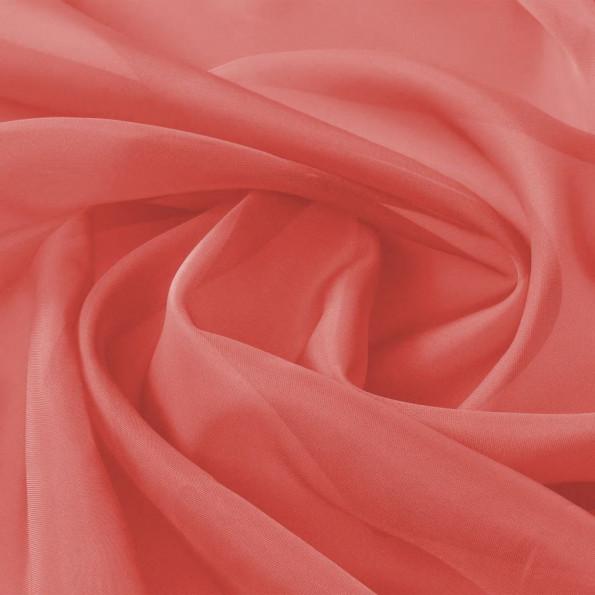 Voile-stof 1,45x20 m rød