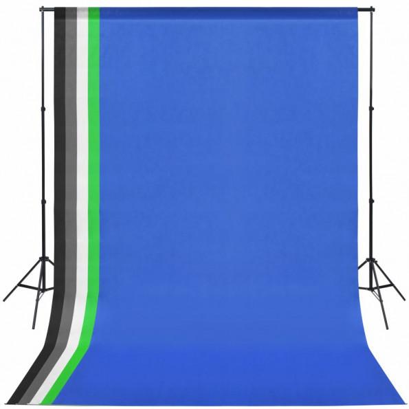 Fotostudieudstyr med 5 farvede kulisser og justerbar ramme