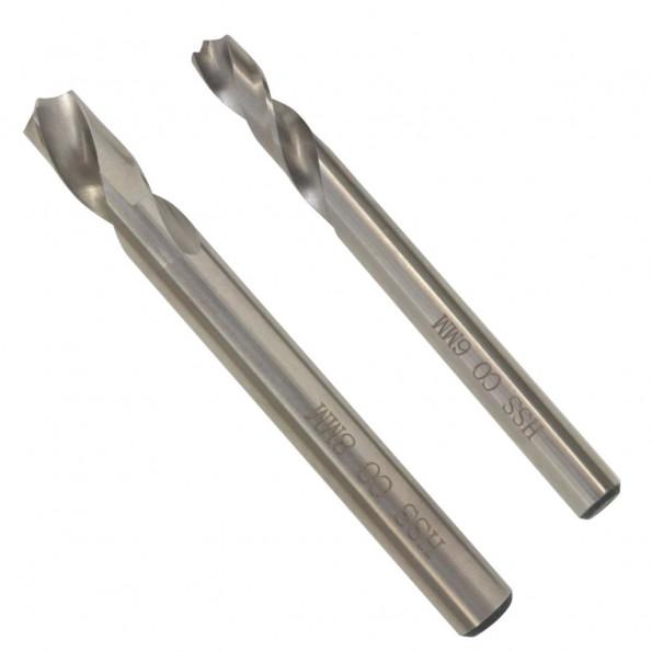 2-dels punktsvejseboremaskine bitssæt 6/8 mm HSS-cobolt