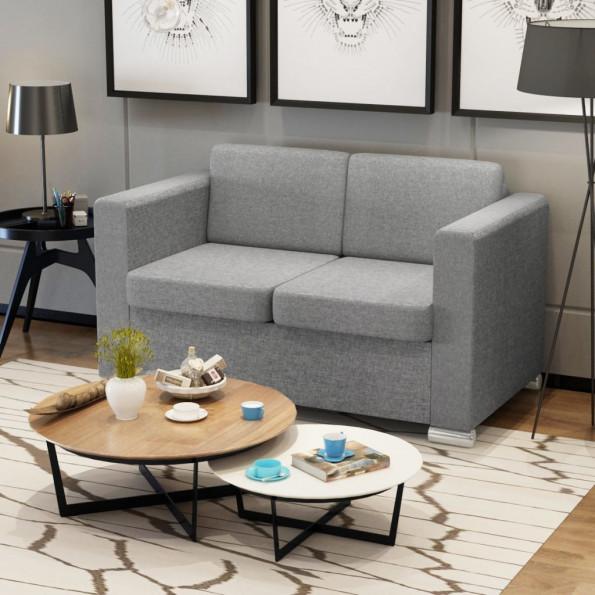 2 pers. sofa lysegråt stof