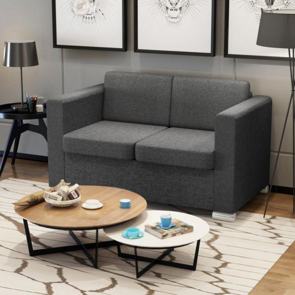 2 pers. sofa mørkegråt stof