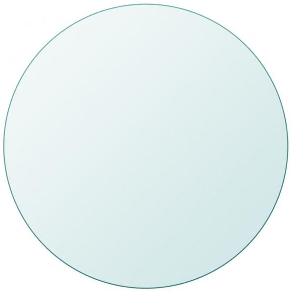 Bordplade hærdet glas rund 500 mm