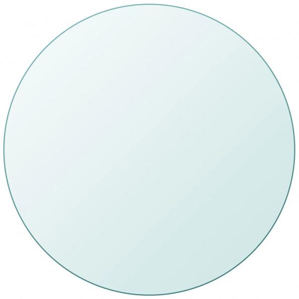Bordplade hærdet glas rund 700 mm